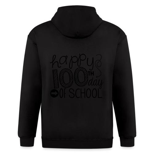 Happy 100th Day of School Arrows Teacher T-shirt - Men's Zip Hoodie