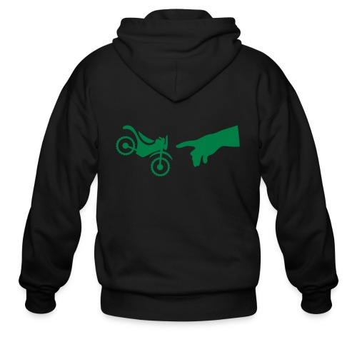 The hand of god brakes a motorcycle as an allegory - Men's Zip Hoodie