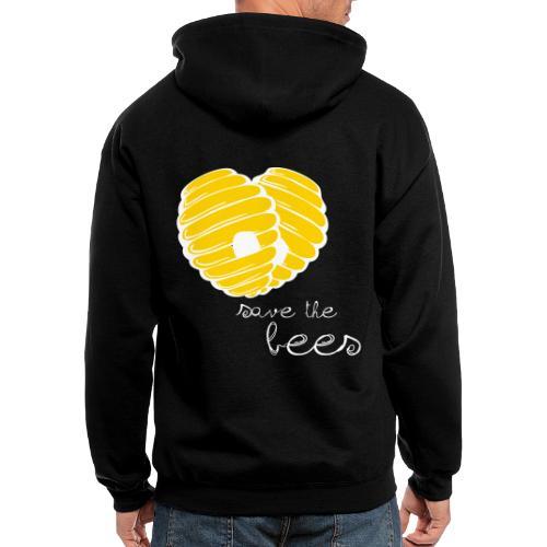 Save the Bees - Men's Zip Hoodie