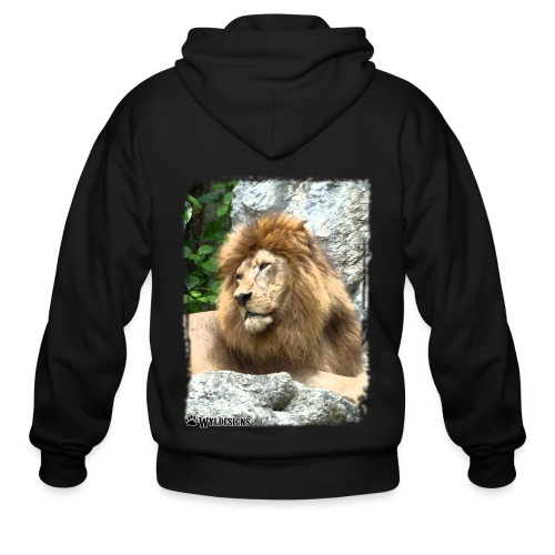 Lion On Rocks - Men's Zip Hoodie
