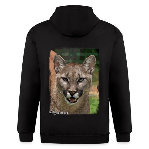 Cougar Stare - Men's Zip Hoodie