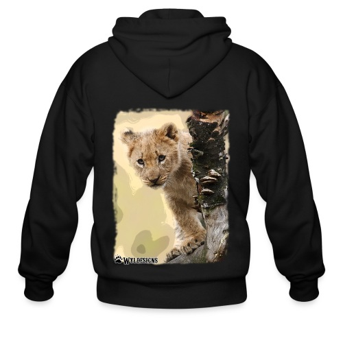 Lion Cub Peeking - Men's Zip Hoodie