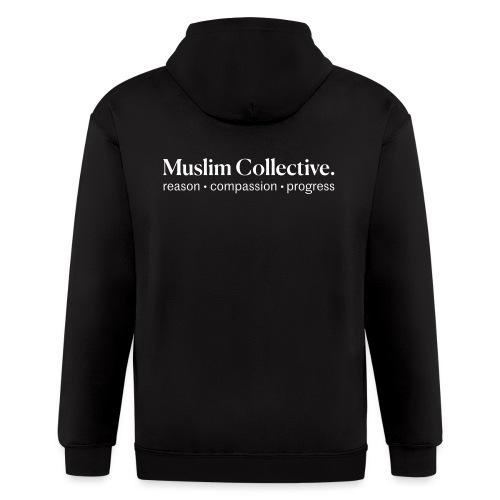 Muslim Collective Logo + tagline - Men's Zip Hoodie