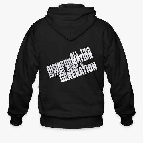 Disinformation - Men's Zip Hoodie