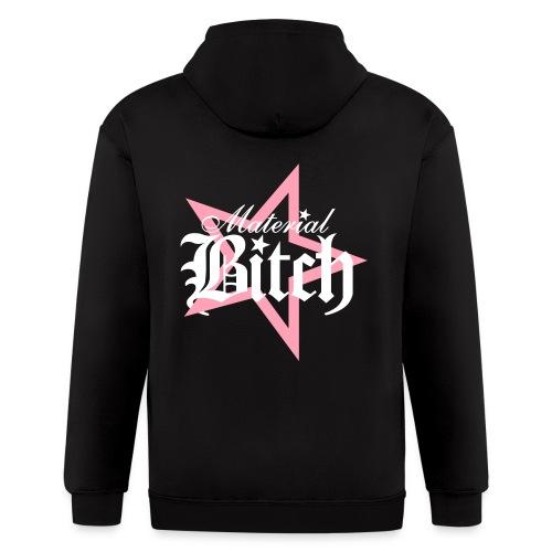 Material Bitch Logo - Men's Zip Hoodie