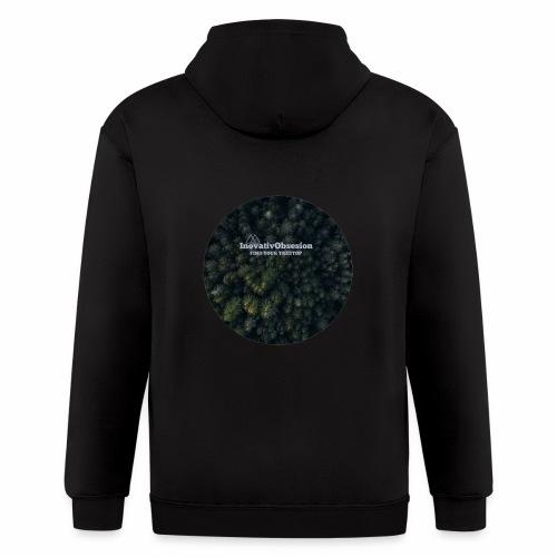 """InovativObsesion """"TREE TOP"""" apparel - Men's Zip Hoodie"""