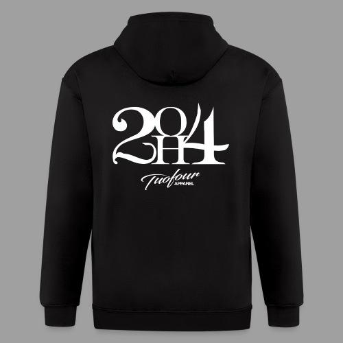 2OH4 - Men's Zip Hoodie