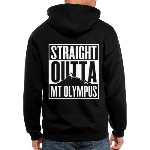 Straight Outta Mt Olympus - Men's Zip Hoodie