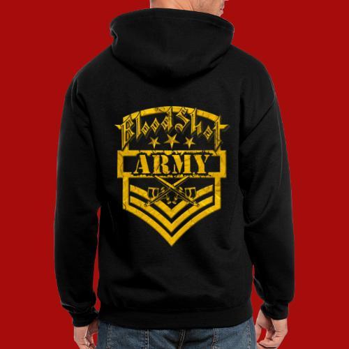 BloodShot ARMY Logo - Men's Zip Hoodie
