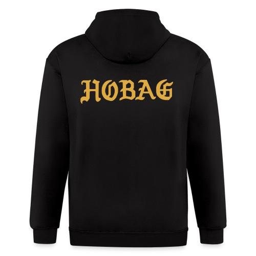BLACK - HOBAG LETTERING - Men's Zip Hoodie
