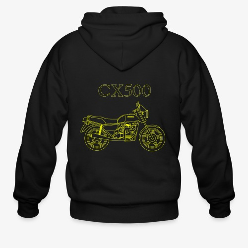 CX500 line drawing - Men's Zip Hoodie