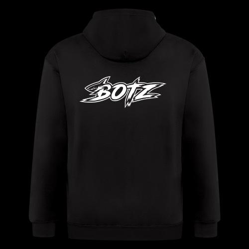 BOTZ White Logo - Men's Zip Hoodie