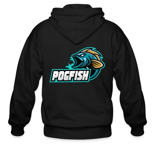 PogFish Text Logo - Men's Zip Hoodie