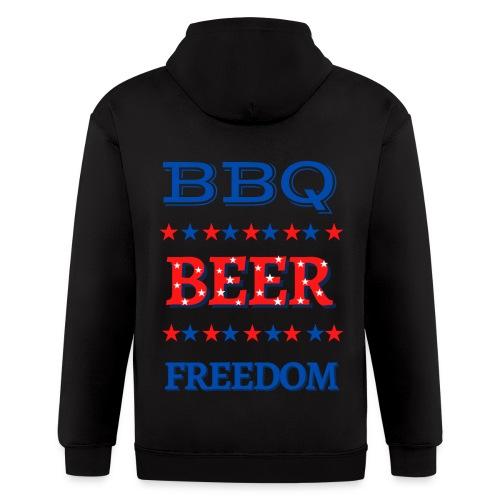 BBQ BEER FREEDOM - Men's Zip Hoodie