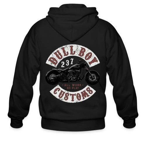 Dull Boy Customs patch - Men's Zip Hoodie