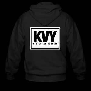 Klotzville Youngin Box Logo - Men's Zip Hoodie