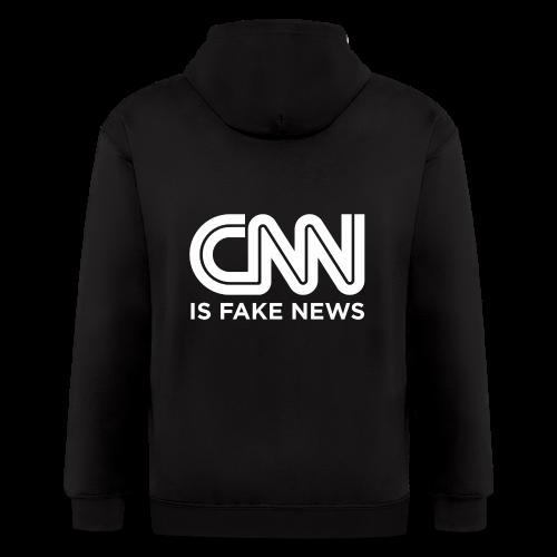 CNN Is Fake News - Men's Zip Hoodie