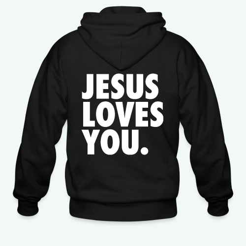 JESUS LOVES YOU - Men's Zip Hoodie
