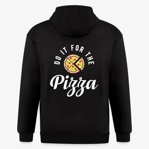 Do It For The Pizza - Men's Zip Hoodie