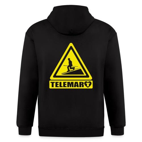 Telemark Warning Classic - Men's Zip Hoodie