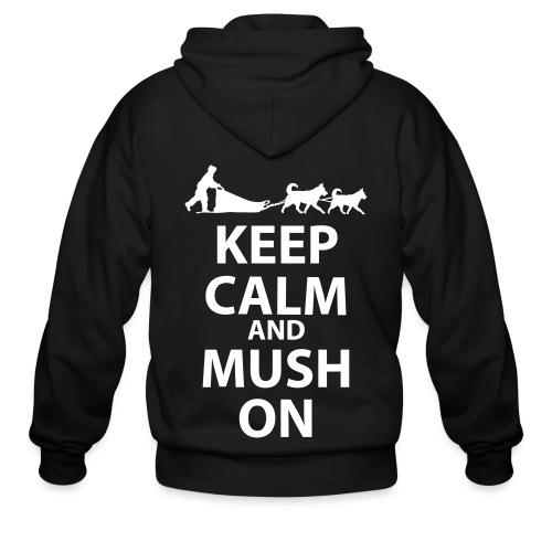 Keep Calm & MUSH On - Men's Zip Hoodie