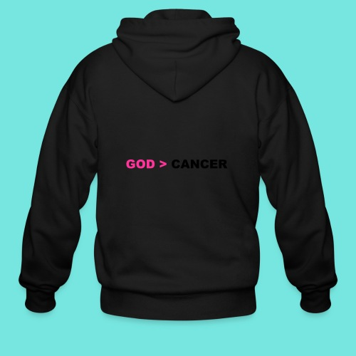 GOD IS GREATER THAN CANCER - Men's Zip Hoodie