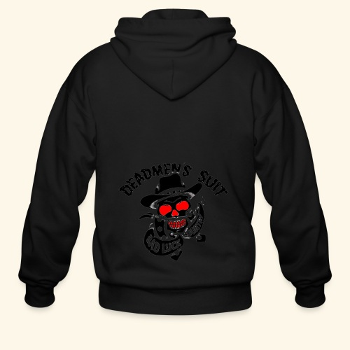 Deadmen's Suit Bad Luck#Skull - Men's Zip Hoodie