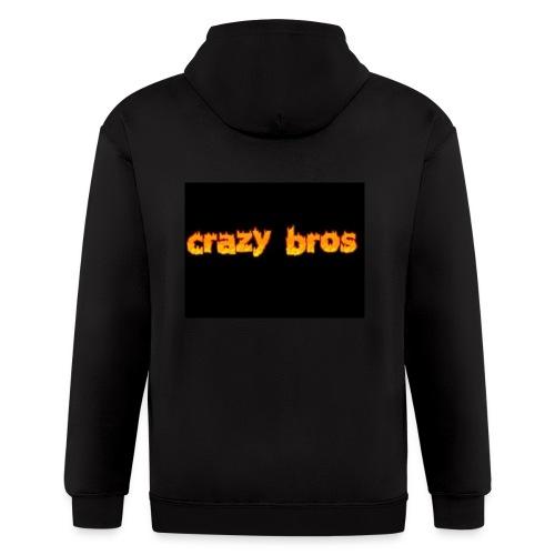 Crazy Bros logo - Men's Zip Hoodie