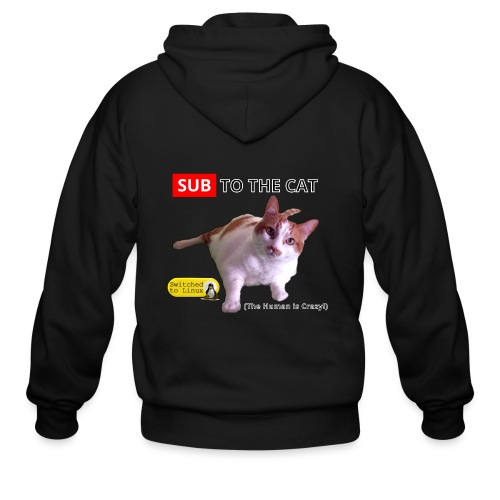 Sub to the Cat - Men's Zip Hoodie
