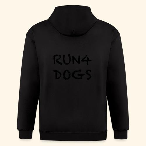 RUN4DOGS NAME - Men's Zip Hoodie