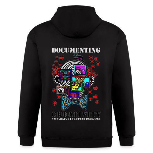 Documenting Creativity Color - Men's Zip Hoodie