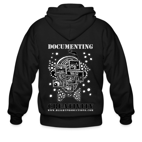 Documenting Creativity B W - Men's Zip Hoodie