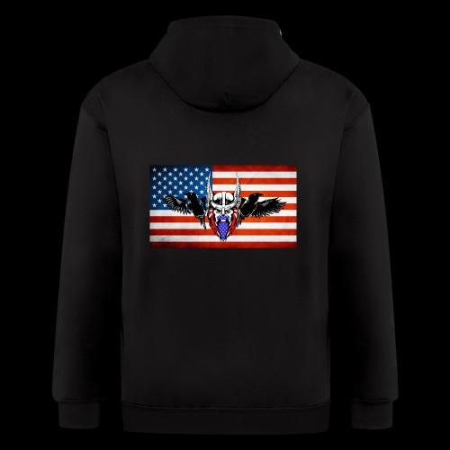 American SOO Logo - Men's Zip Hoodie