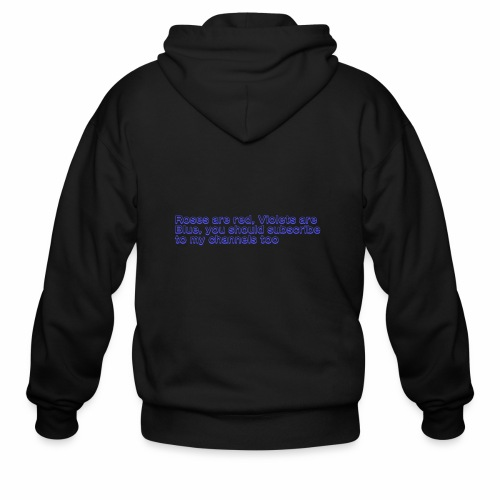 Poem Text - Men's Zip Hoodie