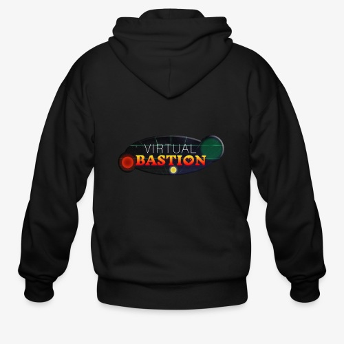 Virtual Bastion: Space Logo - Men's Zip Hoodie