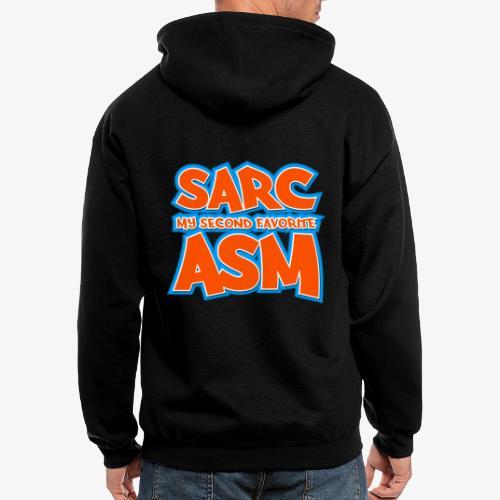 Sarc, My Second Favorite Asm - Men's Zip Hoodie