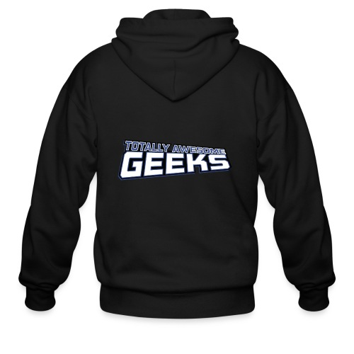 Logo For Totally Awesome Geeks - Men's Zip Hoodie