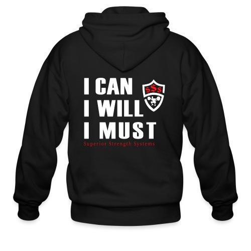I can I will I must - Men's Zip Hoodie
