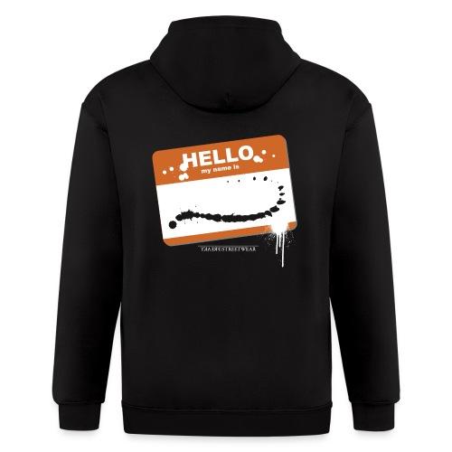 Hello my name is - Men's Zip Hoodie