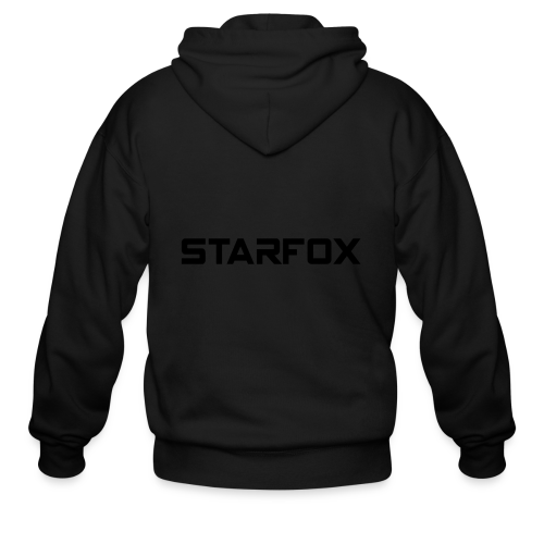 STARFOX Text - Men's Zip Hoodie