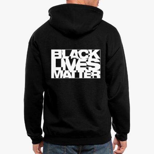 Black Live Matter Chaotic Typography - Men's Zip Hoodie