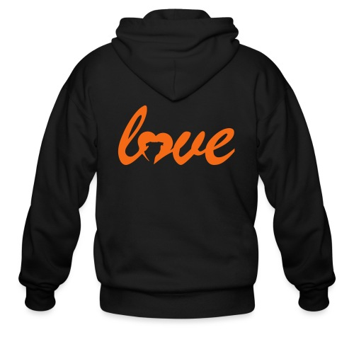 Dog Love - Men's Zip Hoodie