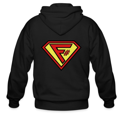 F# Hero Woman - Men's Zip Hoodie