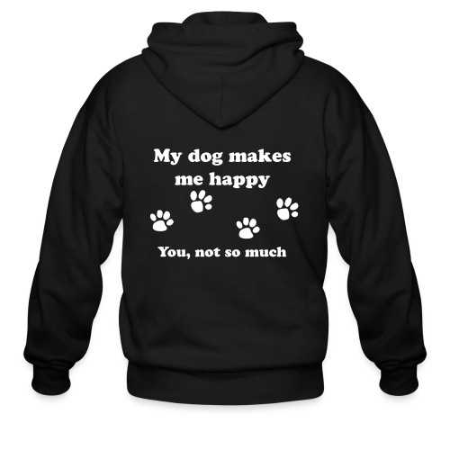 dog_happy - Men's Zip Hoodie