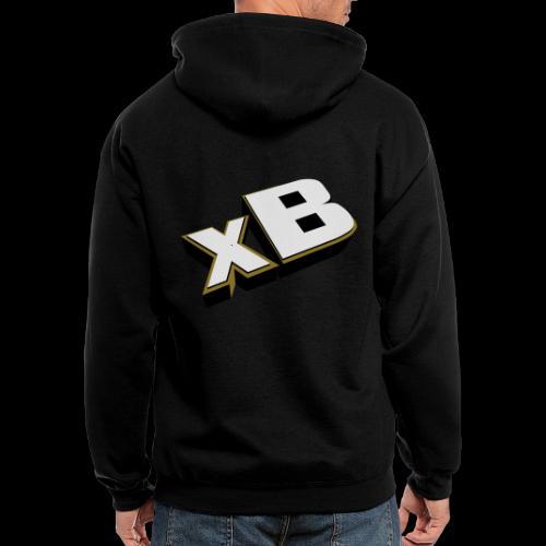 xB Logo (Gold) - Men's Zip Hoodie