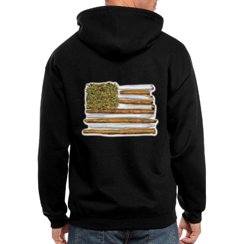 American Flag With Joint - Men's Zip Hoodie