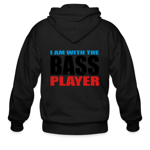 I am with the Bass Player - Men's Zip Hoodie