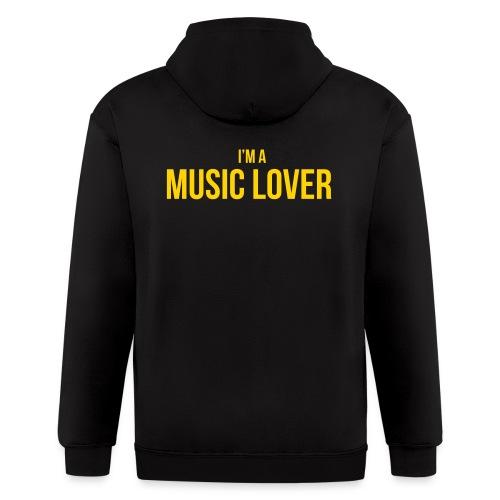 Music Lover small - Men's Zip Hoodie
