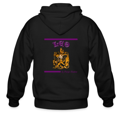 LEO PURPLE - Men's Zip Hoodie