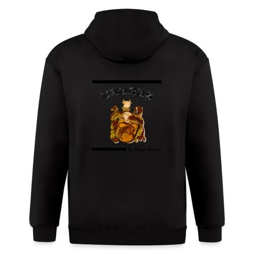 TAURUS BLACK - Men's Zip Hoodie